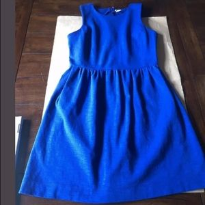 J CREW Women's Small Royal Blue Daybreak Dress